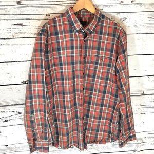 J.Crew men's button down Oxford plaid shirt
